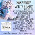 """""""Winter Fairy""""- December 2020 Inked Goddess Creations Box- One Time Purchase"""