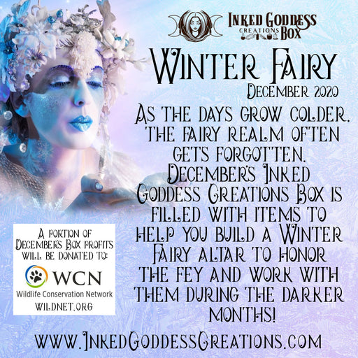 """Winter Fairy""- December 2020 Inked Goddess Creations Box- One Time Purchase"