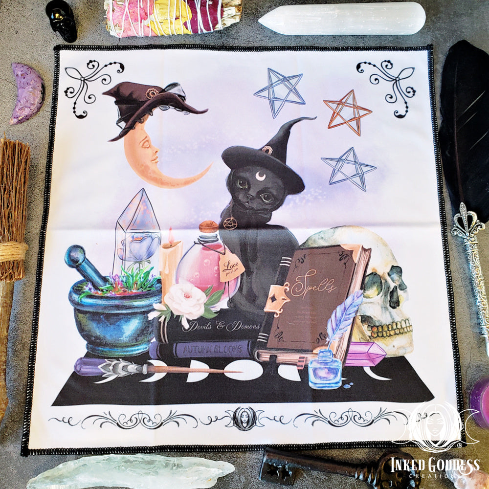 Witchy Ways Altar Cloth - Inked Goddess Creations Exclusive!
