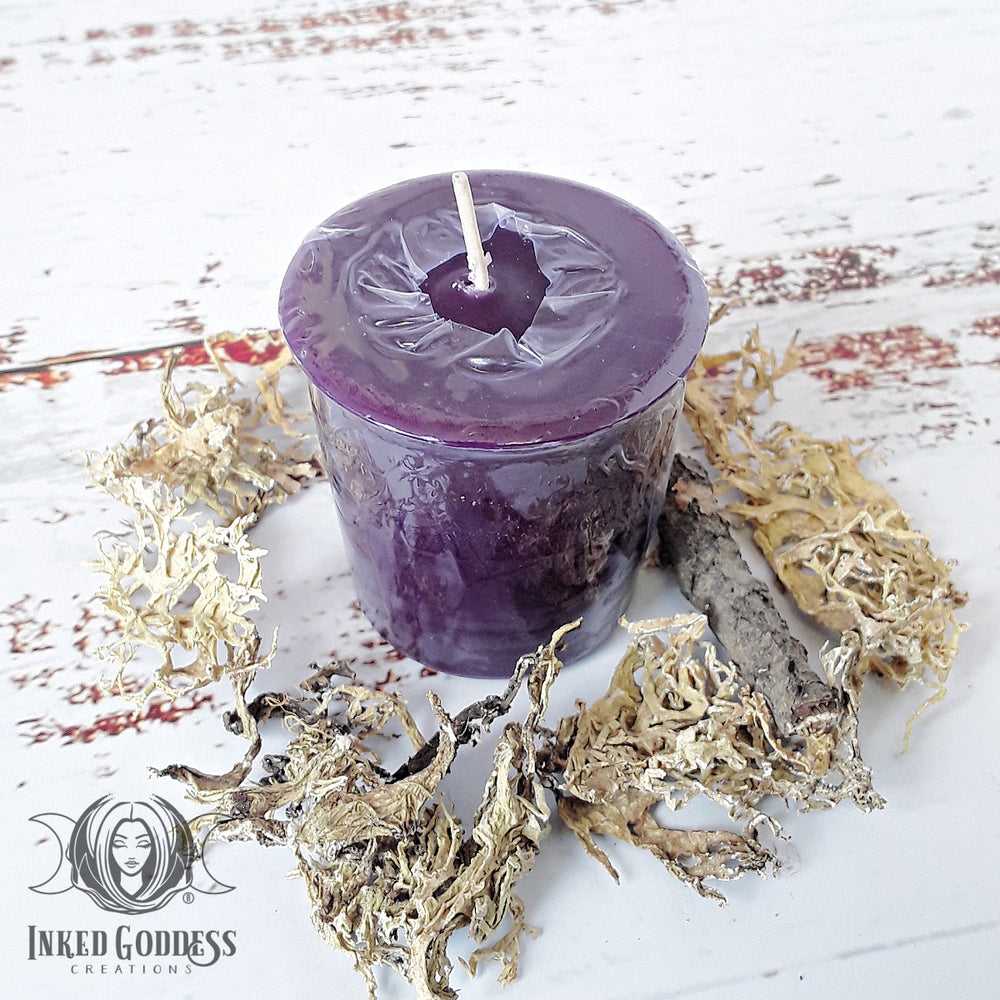 Wyrd Votive Candle for Destiny Magick, Pack of 3