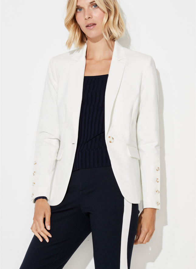 Jacket with Sleeve Placket Detail