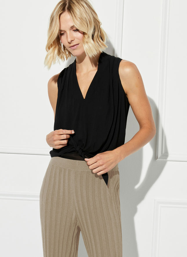 Pinto Tie Front Sleeveless Top