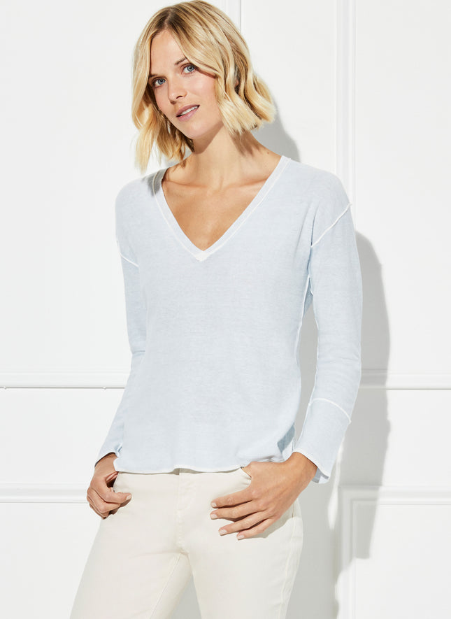 V-Neck Reverse Dye Sweater