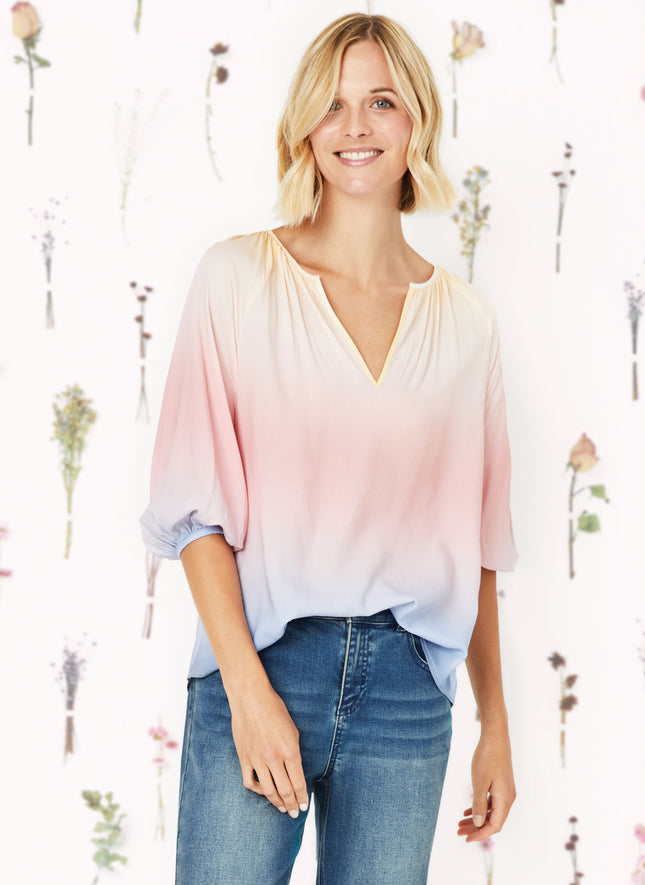 Aniston Gather Neck Blouse