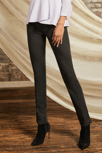 Tournabuoni Slim Pant with Baby Chain and Slit Detail