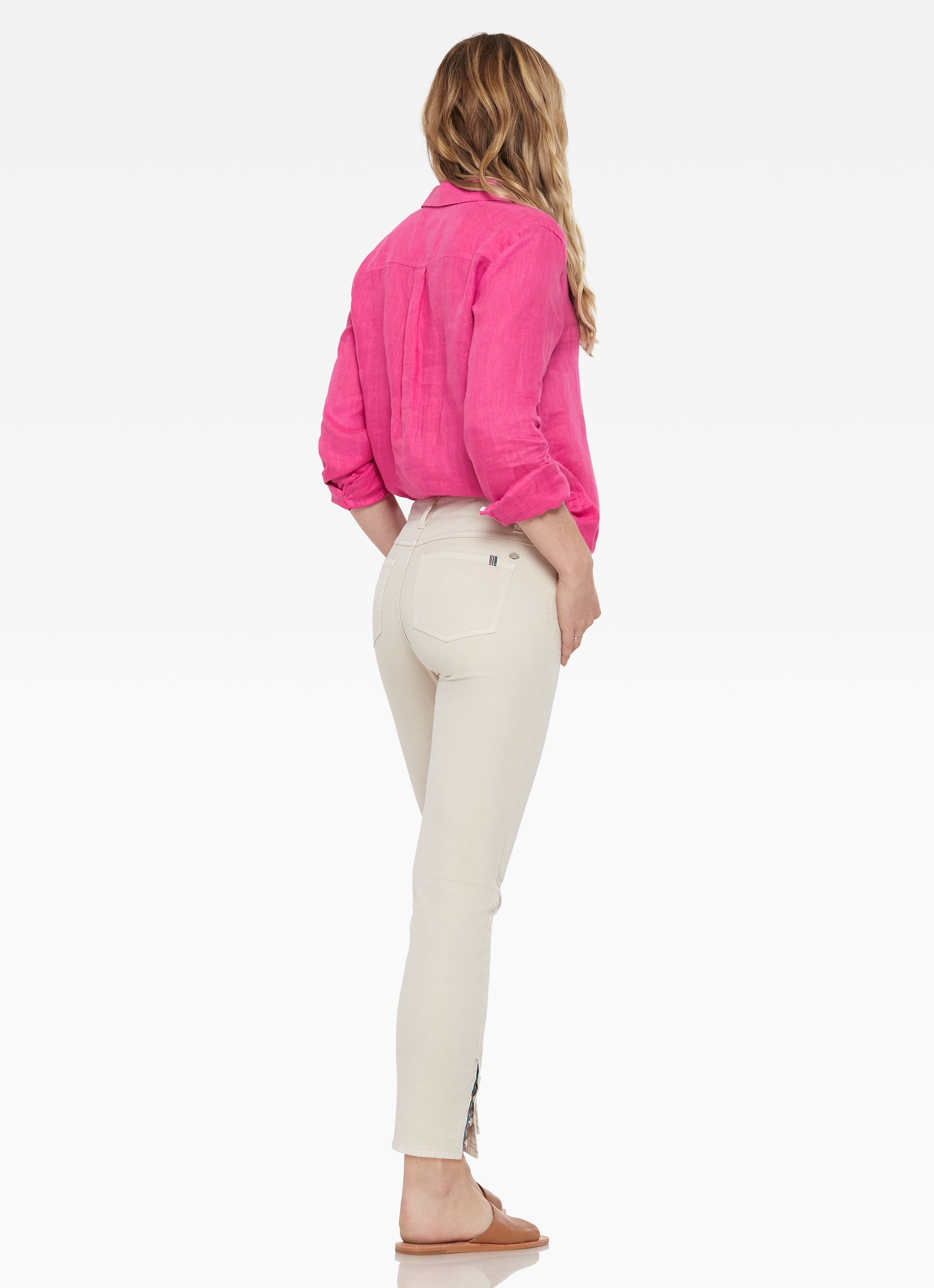 Rainey Cropped Button Detail Pant