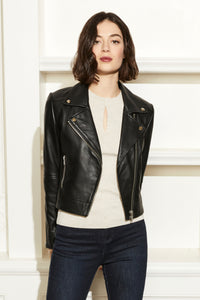 Leather and Ponte Moto Jacket