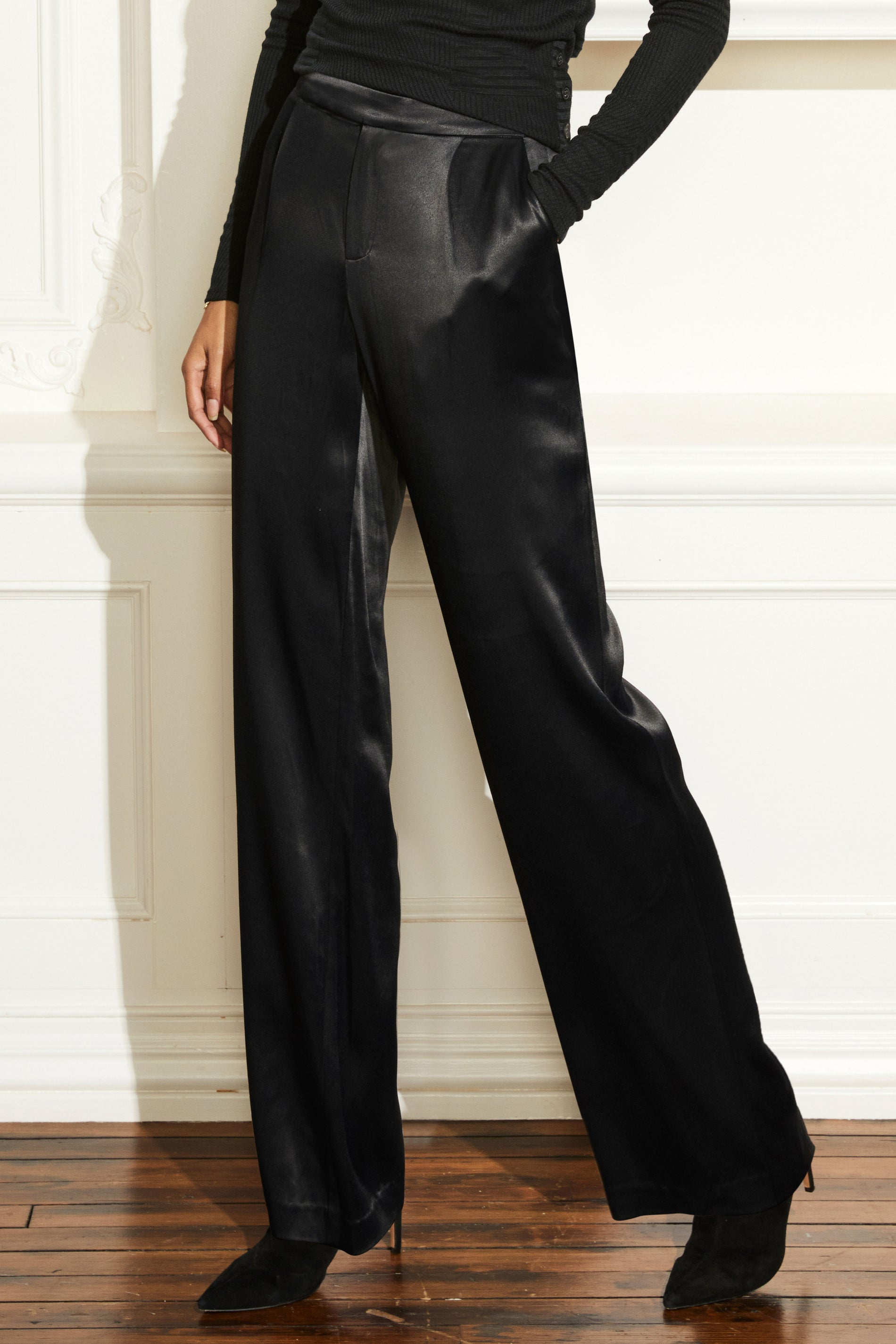 Montaigne Pleat Front Satin Pant