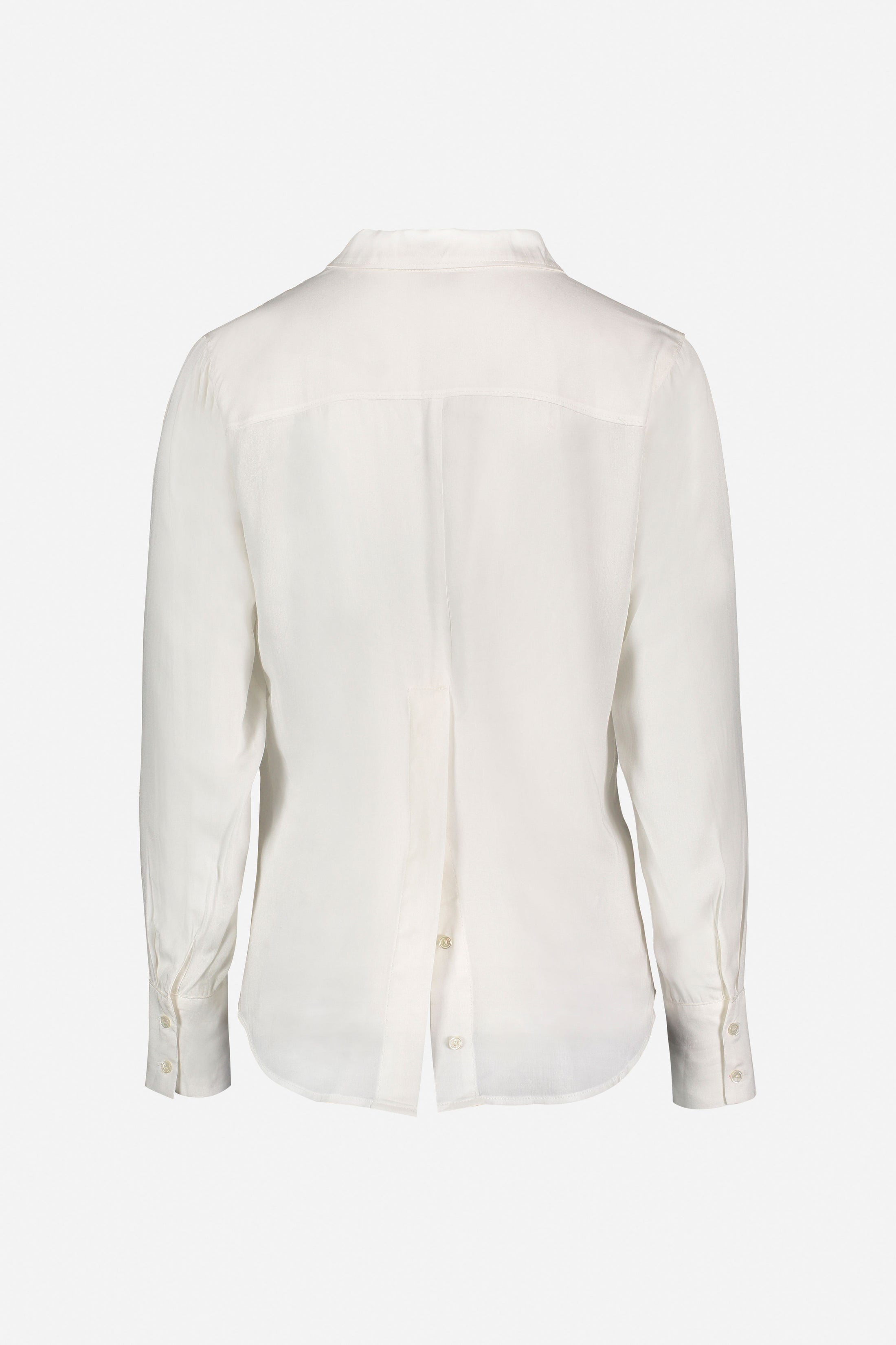 Streep Shirt With Back Button Detail