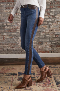 Los Feliz Jean With Leather Inset