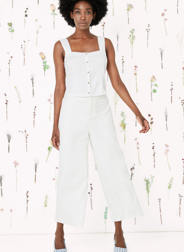 Cannes Wide Leg Crop Pant