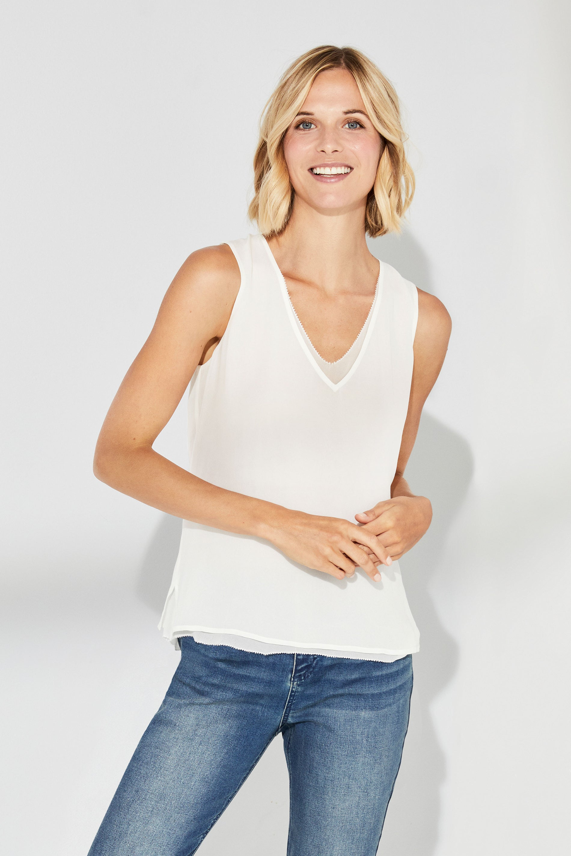 Miller Layered V-Neck Sleeveless Top