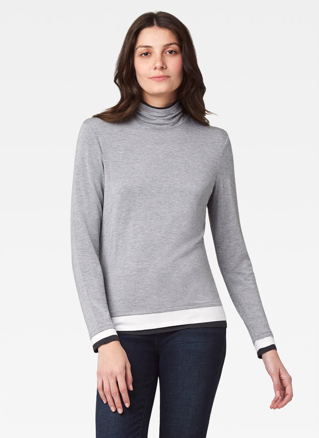 Layered Mock Neck