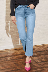 Sunset High Rise Flare Leg Cropped Jean