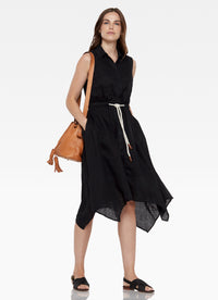 Moore Sleeveless Shirtdress