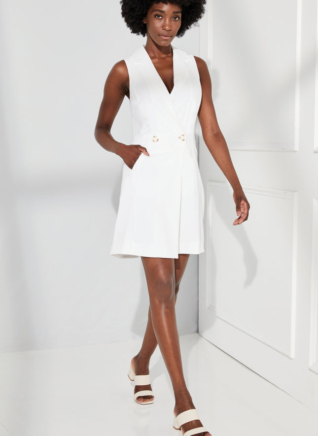 Dockery Sleeveless Tuxedo Dress