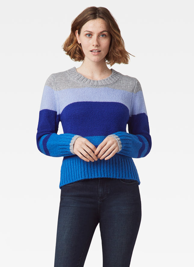 Multi Stripe Crewneck Sweater