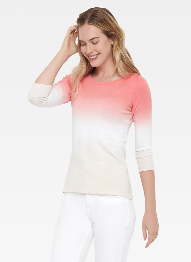 Boatneck Ombre Dip Dye Sweater
