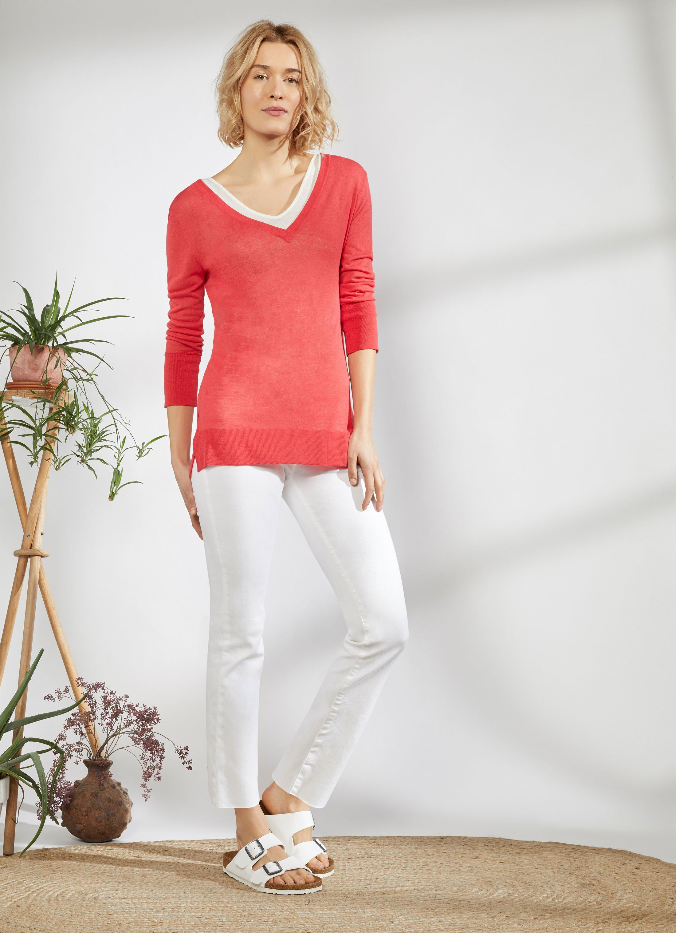 Double Layer V-Neck