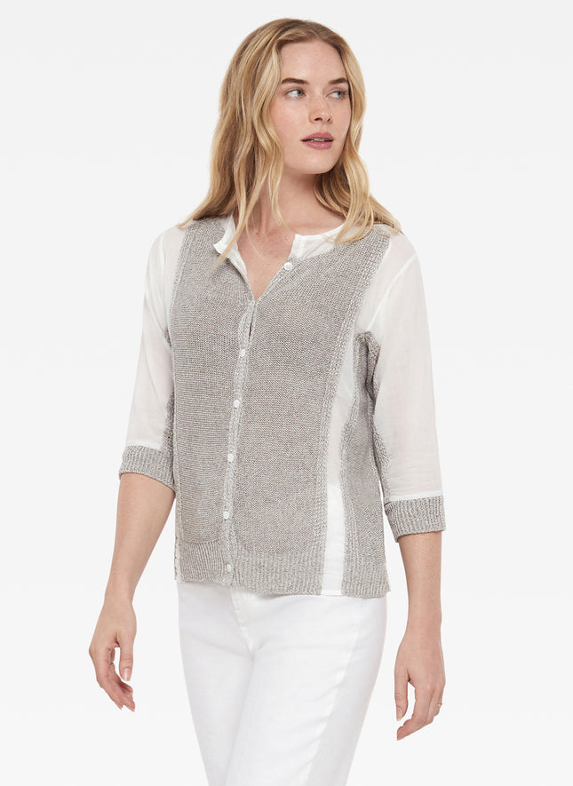 Linen Mixed Fabric Cardigan