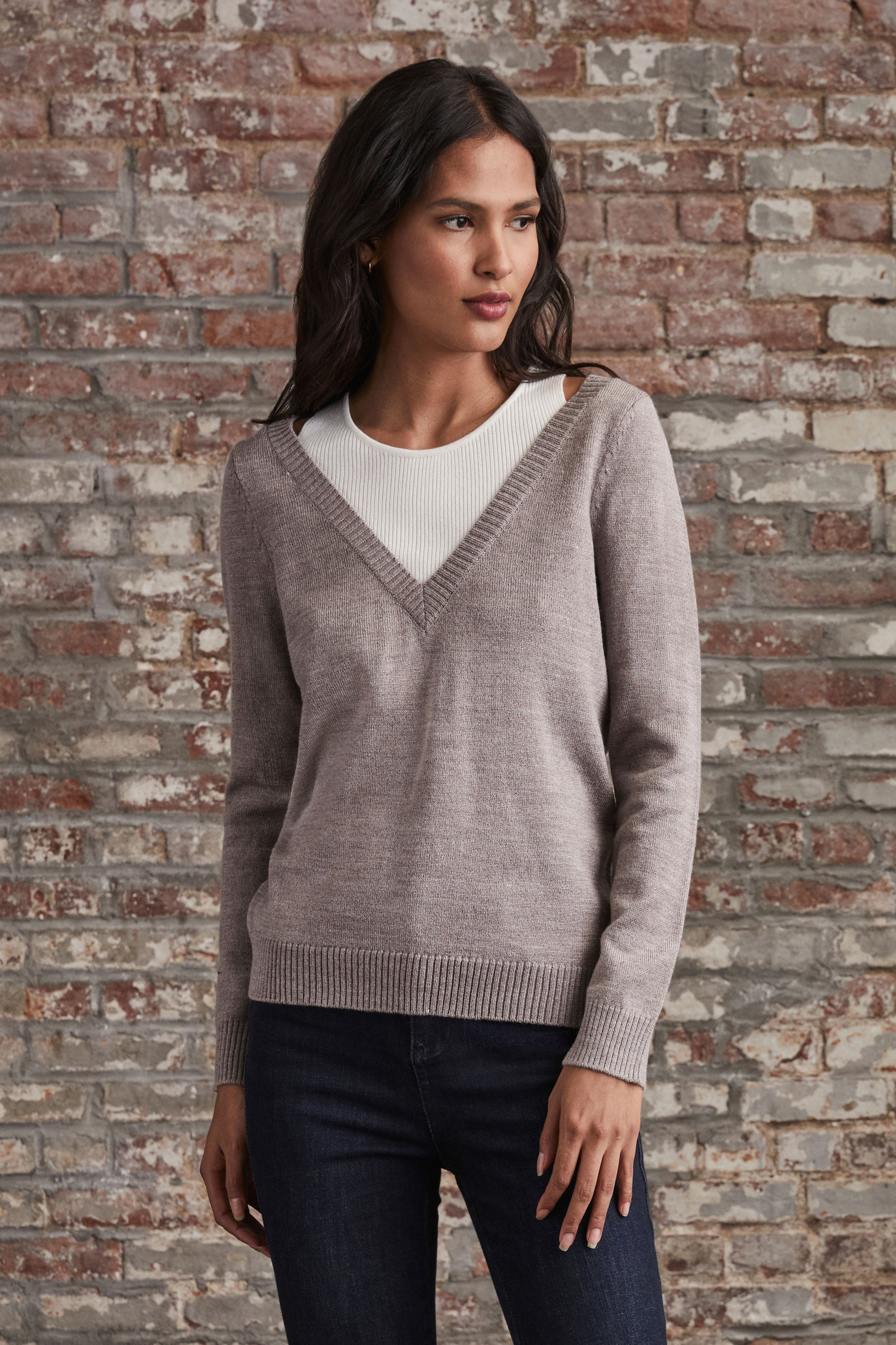 Halter Layered Sweater