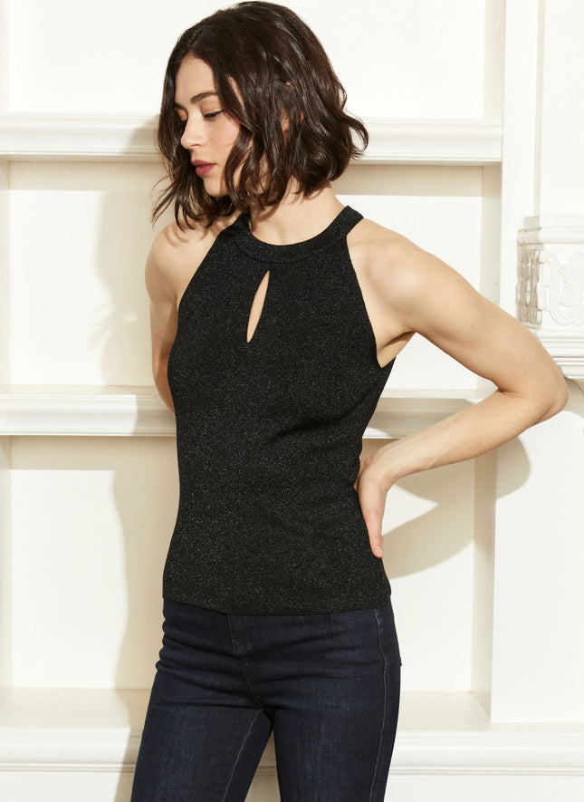 Zip Back Halter Sweater