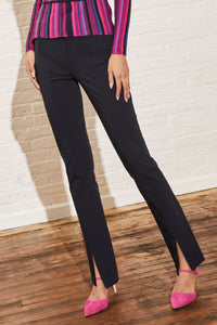 Vesey Clean Pant with Slit Front