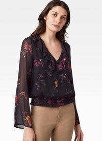 Deschanel Smocked Waist Blouse