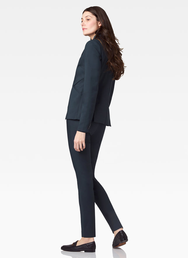 Power Stretch Fitted Blazer with Seam Detailing
