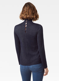 Lurex Mock Neck Sweater
