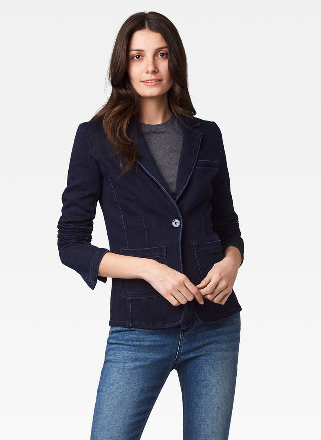 Indigo Dye French Terry Blazer