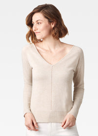 Lurex Sweater with Pointelle Detail
