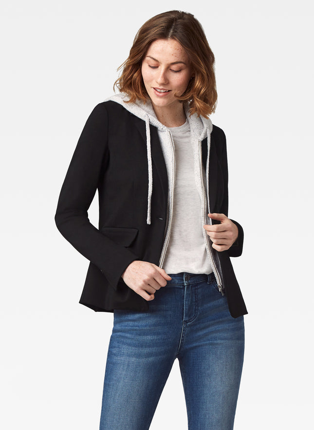 Blazer with Removable Hoodie