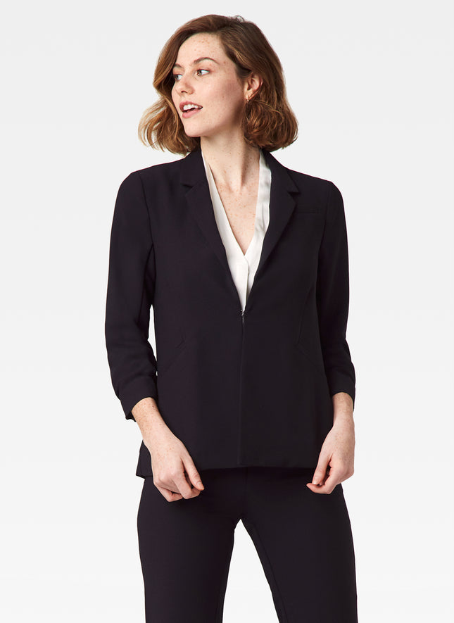 Satin Back Crepe Blazer