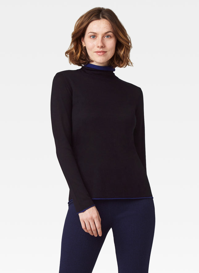 Double Mock Neck Sweater