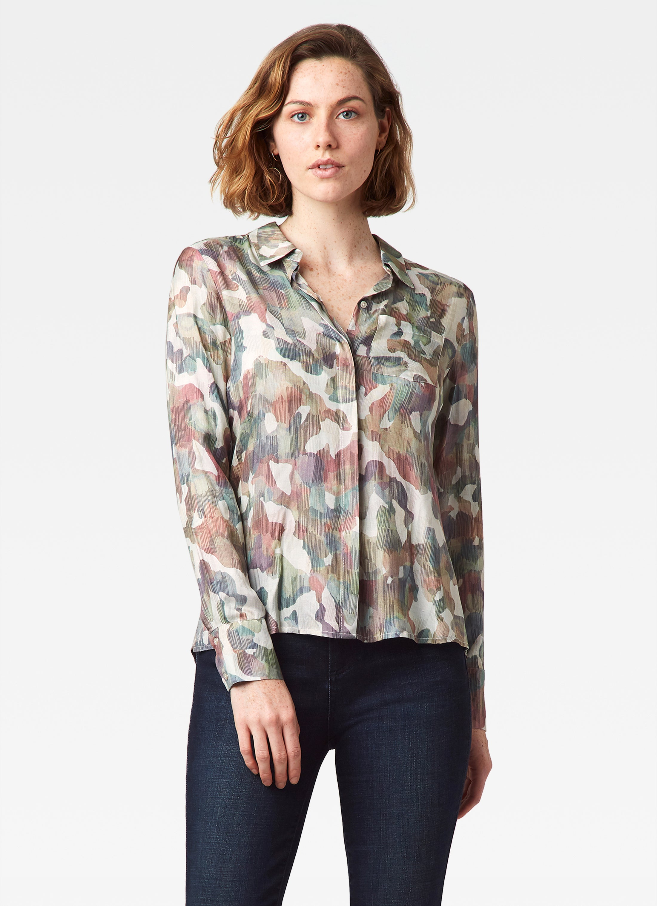 Streep Side Placket Shirt