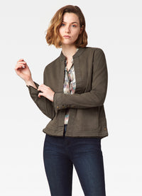 Banded Collar Jacket