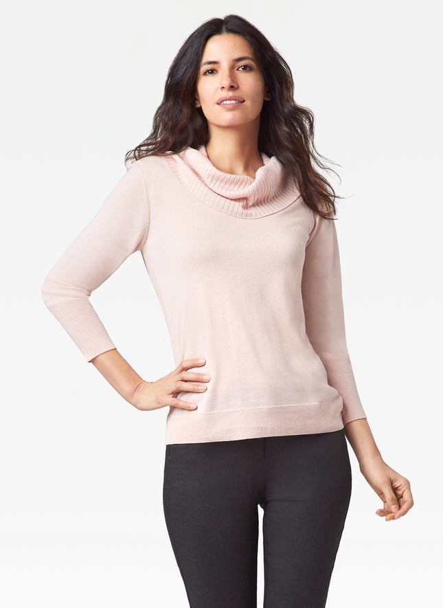 Detachable Cowl Neck Sweater