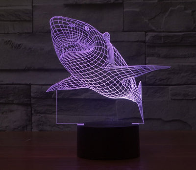 Shark 3D LED Color Changing Light - FREE Shipping