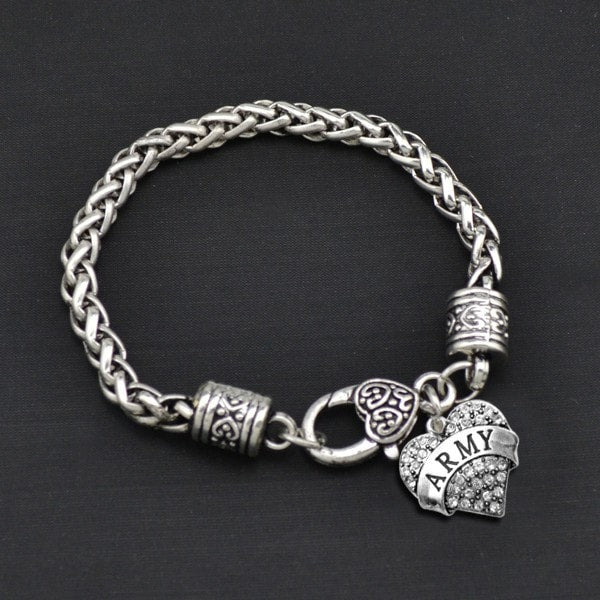 Army - Metal Linked Bracelet - FREE Shipping - 60% Off!