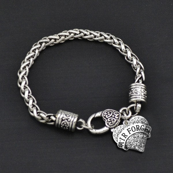 Air Force - Metal Linked Bracelet - FREE Shipping - 60% Off!