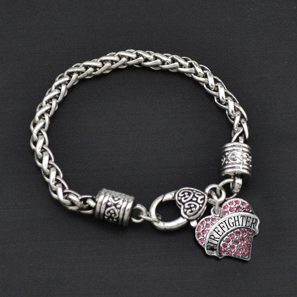 Firefighter - Metal Linked Bracelet - FREE Shipping - 60% Off!