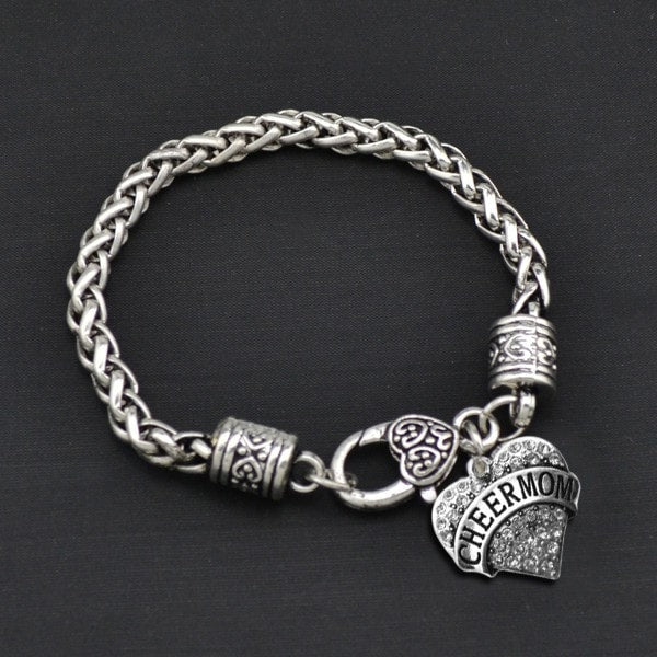 Cheer Mom - Metal Linked Bracelet - FREE Shipping - 60% Off!