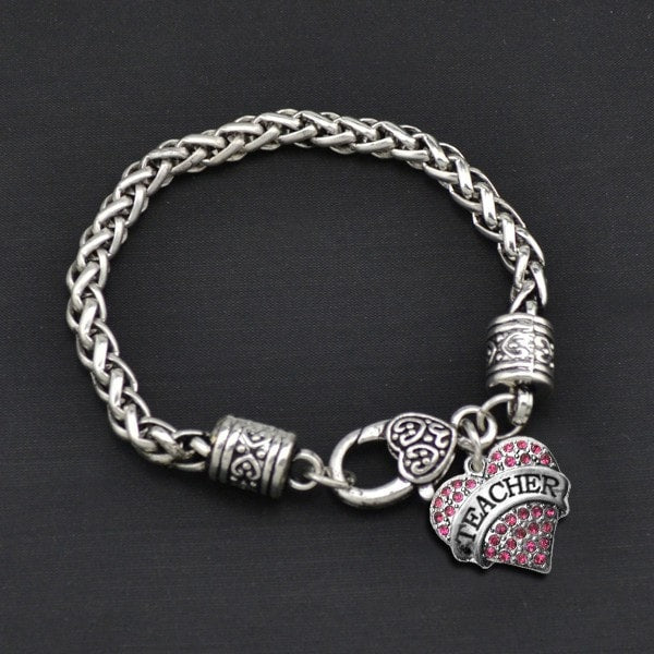 Teacher - Metal Linked Bracelet - FREE Shipping - 60% Off!