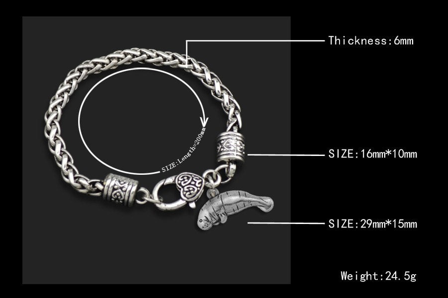 Manatee - Metal Linked Bracelet - FREE Shipping - 60% Off!