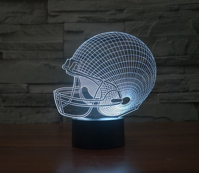 Football Helmet 3D LED Color Changing Light - FREE Shipping