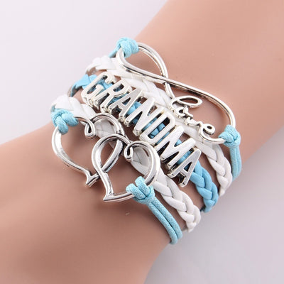 Love Being Grandma Braided Bangle Bracelet - FREE Shipping