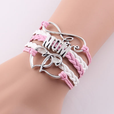 Love Being Mom Braided Bangle Bracelet - FREE Shipping