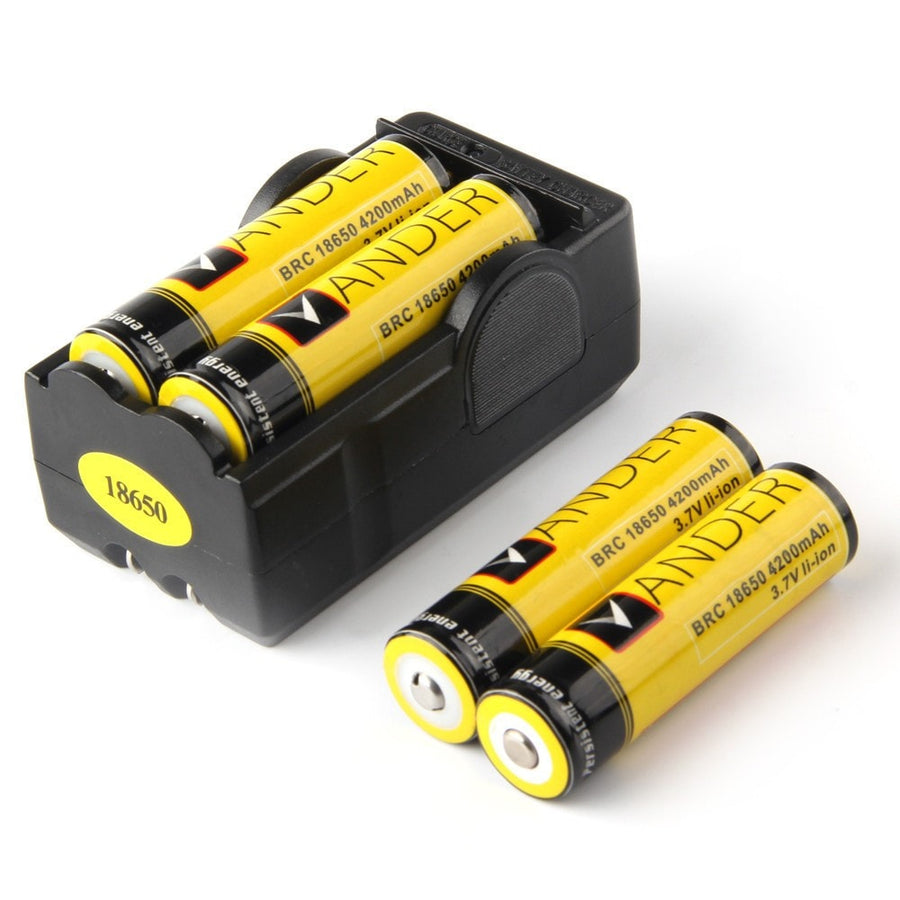 Rechargeable 18650 Batteries for Tactical Flashlight