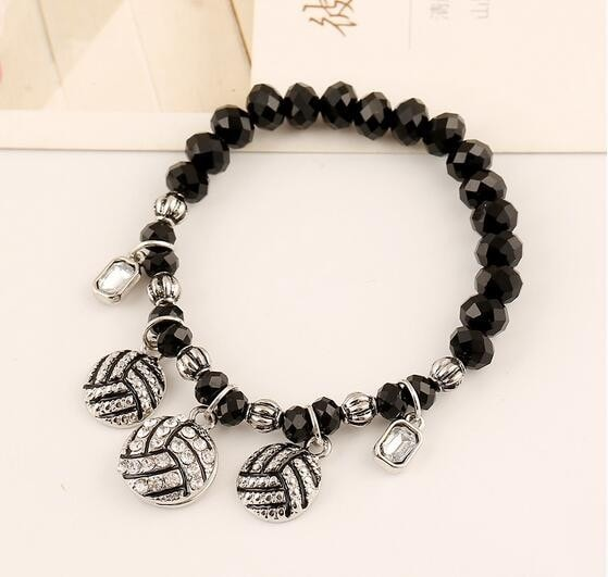 Volleyball Crystal Bead Bracelet - Free Shipping